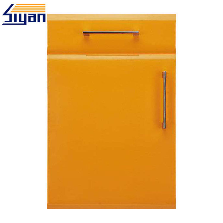 Solid Color Modern Kitchen Cabinet Doors Smooth Surface With 15mm-25mm Thickness