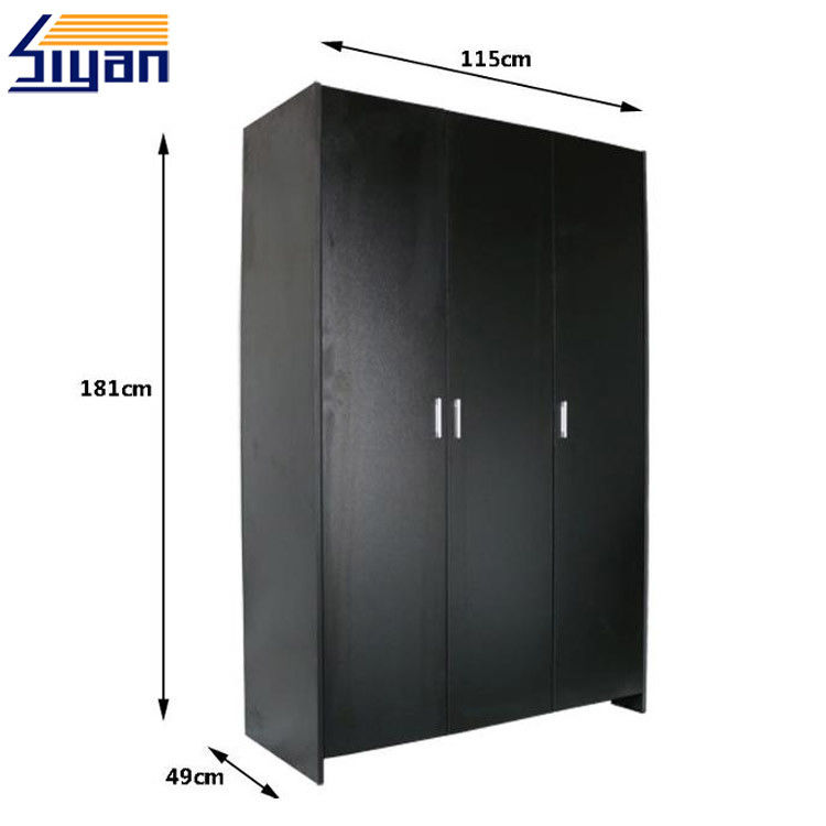 Custom Made Bedroom Wardrobe Doors Solid Color With 760*50*180CM Size